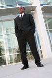 Business Man Outside Office royalty free stock image