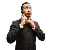 Business man over the phone Stock Photo