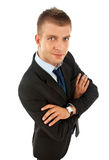 Business man over white Stock Photos