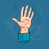 Business Man Palm Hand Five Fingers Royalty Free Stock Photography