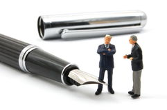Business man and pan Royalty Free Stock Image