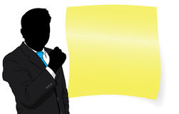 Business man and paper Royalty Free Stock Images