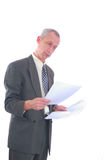 Business man with paperwork Royalty Free Stock Image