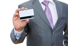 Business man with pastic card in hand Stock Photo