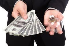Business man pay money Stock Photos