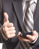 Business man with pda Royalty Free Stock Images