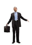 Business man with a peculiar expression Royalty Free Stock Images
