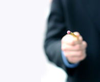Business man with pencil 3 Royalty Free Stock Photo