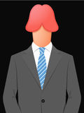 Business man with penis head Royalty Free Stock Photos