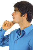 Business Man - Pensive Stock Image