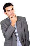 Business man pensive Royalty Free Stock Photo