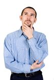 Business man in a pensive mood Stock Images