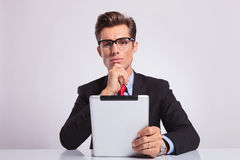 Business man pensive Stock Images