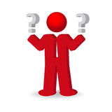 Business man, person with a question mark Royalty Free Stock Photography