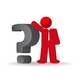 Business man, person with a question mark Stock Images