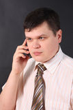 Business man on the phone stock photography