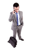 Business man at the phone Stock Images