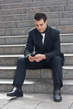 Business man with phone. Stock Image