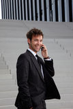 Business man with phone Royalty Free Stock Photo