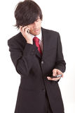 Business man at phone Royalty Free Stock Photos