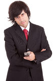 Business man at phone Royalty Free Stock Images