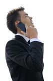 Business man at phone Stock Images