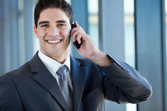 Business man on phone Stock Photography