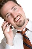 Business Man on Phone Royalty Free Stock Photos