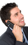 Business man on the phone Stock Images