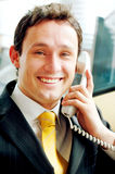 Business man on the phone Royalty Free Stock Photo