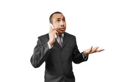 business man on phone Stock Images
