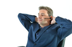 Business man on the phone or customer service representative Royalty Free Stock Image