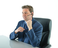 Business man on phone or customer service representative Royalty Free Stock Photo
