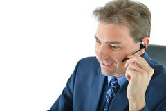 Business man on phone or customer service representative Royalty Free Stock Photography