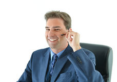 Business man on phone or customer service representative Stock Image