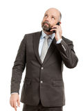 Business man phone Stock Images