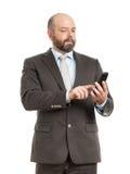 Business man phone Royalty Free Stock Photos