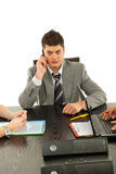 Business man on phone mobile Royalty Free Stock Photo