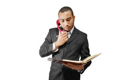 business man on phone Stock Image