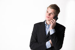 Business man with phone Royalty Free Stock Images