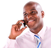 Business man on the phone Royalty Free Stock Images