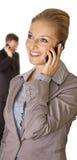 business man phone talking woman Стоковое Изображение RF