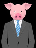 Business man with pig head Royalty Free Stock Photos