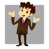 Business Man In Plaid Suit Royalty Free Stock Photos