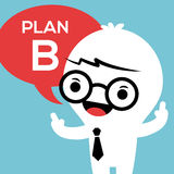Business man with Plan B in speech bubble Stock Photo