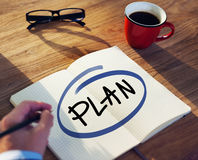 Business man with Plan Concept Royalty Free Stock Image