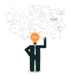 Business man planning business idea Stock Images