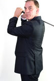 Business man playing golf Royalty Free Stock Photography