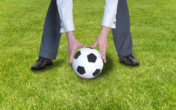 Business man playinng with ball Royalty Free Stock Images