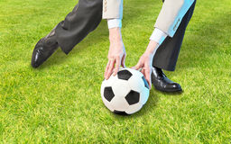 Business man playinng with ball Royalty Free Stock Photo